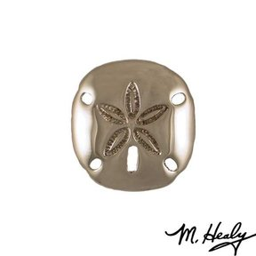 Sand Dollar Door Knocker, Polished Nickel Silver