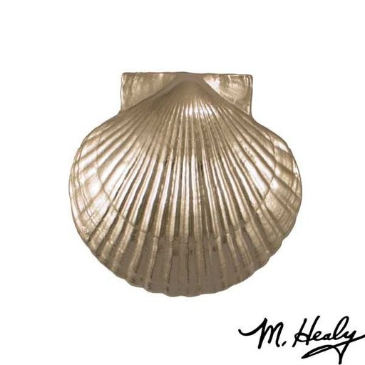View a Larger Image of Sea Scallop Door Knocker, Brushed and Polished Nickel Silver