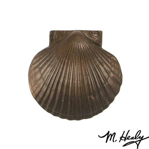 View a Larger Image of Sea Scallop Door Knocker, Oiled Bronze