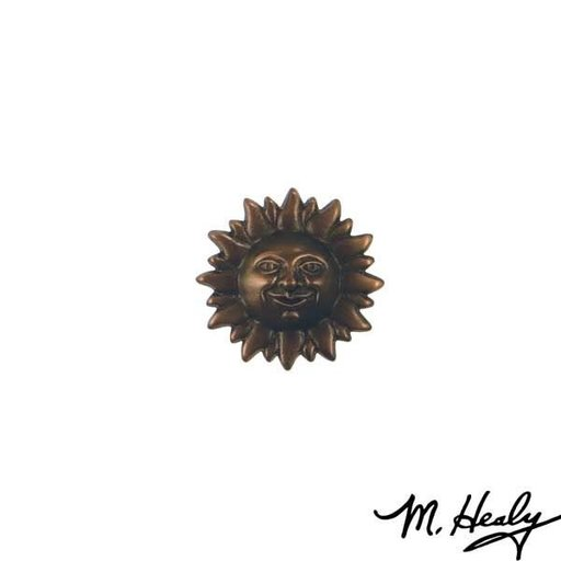 View a Larger Image of Smiling Sun Face Door Bell Ringer, Oiled Bronze