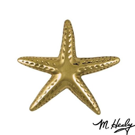 View a Larger Image of Starfish Door Knocker, Polished Brass