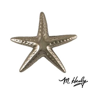 Starfish Door Knocker, Polished Nickel Silver