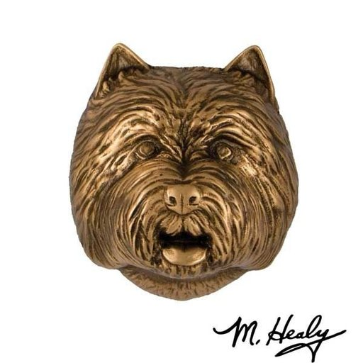 View a Larger Image of Westie Door Knocker, Bronze