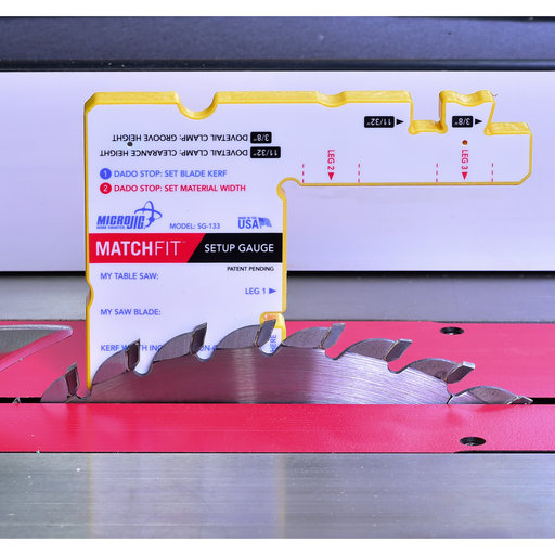 View a Larger Image of MicroJig Matchfit SetUp Gauge