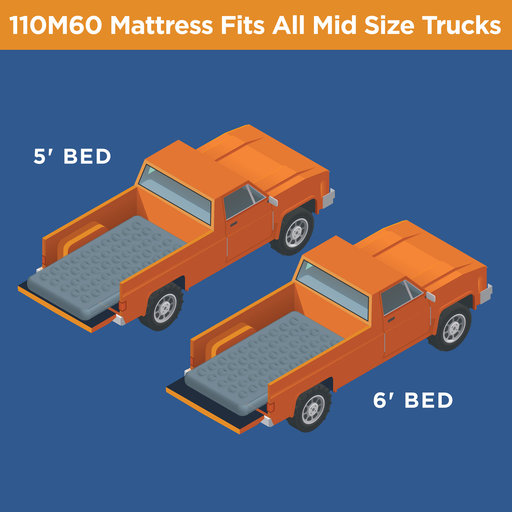 View a Larger Image of Mid Size Truck Bed Air Mattress (5' to 6')