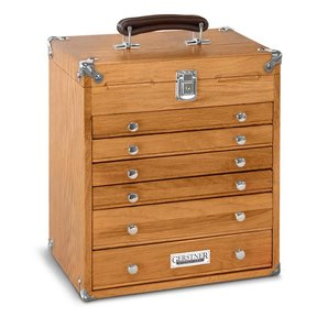 T-16 6 Drawer Mighty Portable Chest, Red Oak