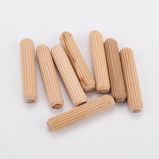 "View a Larger Image of 45 pc 5/16"" x 1-1/2"" Fluted Wooden Dowel Pins"