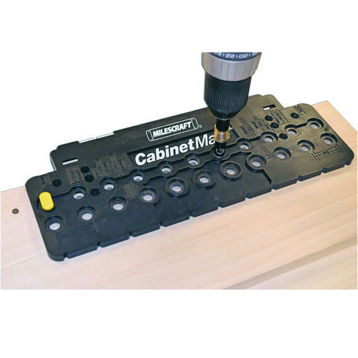 "View a Larger Image of CabinetMate Drill Template With 1/4"" Guided Bit"