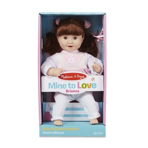 Mine to Love Brianna 12-Inch Soft Body Baby Doll with Hair and Outfit