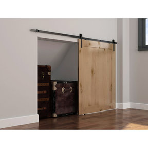 Mini Flat Rail Barn Door Hardware - Surface Mount
