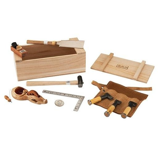 View a Larger Image of Miniature Japanese Tool Box with Tools