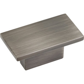 "Mirada Knob, 1-9/16"" O.L.,, Brushed Pewter"