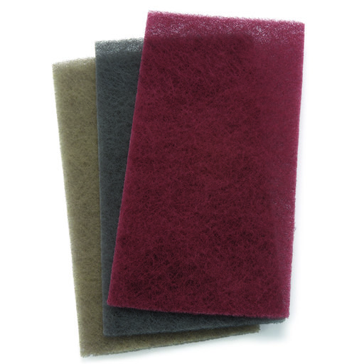 View a Larger Image of Mirlon Nonwoven Total Scuff Sanding Pad, Assorted Grit, 3 pack