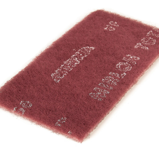 "View a Larger Image of Mirlon Total 4-1/2"" x 9"" Very Fine Scuff Pad (Red), , 25 pads"