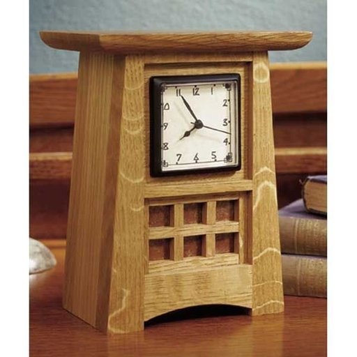 View a Larger Image of Mission Style Arts and Crafts Shelf Clock - Downloadable Plan