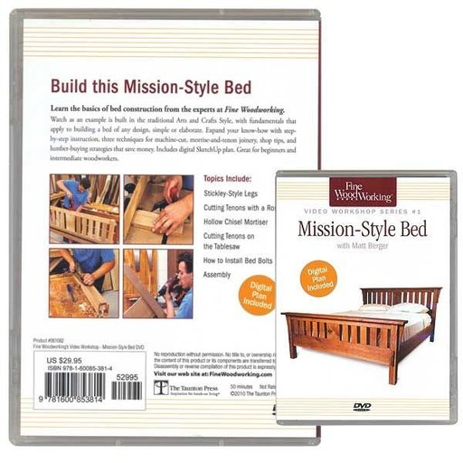 View a Larger Image of Mission-Style Bed Series #1