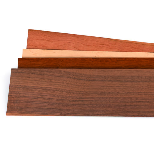 "View a Larger Image of Mixed Variety 1/16"" Thick 4-1/2"" to 7-1/2"" Width 3 sq ft Pack Wood Veneer"