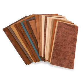 "Mixed Variety Domestic & Exotic Veneer Pack 10 sq ft 5-1/2"" - 7-1/2"" Width"