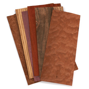 "Mixed Variety Exotic Veneer Pack 3 sq ft pack 4-1/2"" - 7-1/2"" Width"