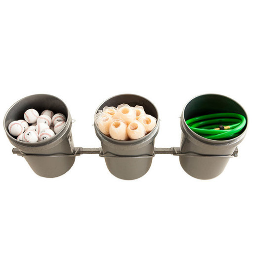 View a Larger Image of 3 Bucket Storage Rack