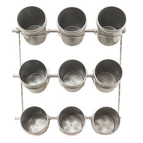9 Bucket Storage Rack