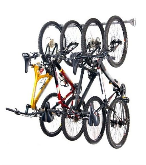 View a Larger Image of Four Bike Storage Rack