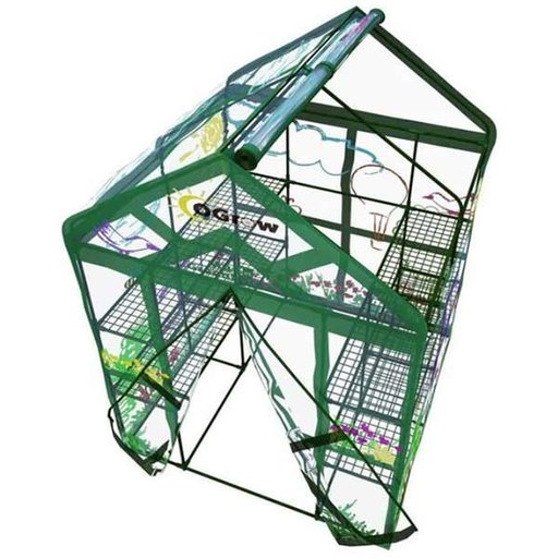 View a Larger Image of  My First Greenhouse-Ogrow Walk in -3 Tier ,12 Shelf kids Greenhouse