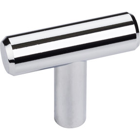 "Naples ""T"" Knob, 1-9/16"" O.L.,, Polished Chrome"