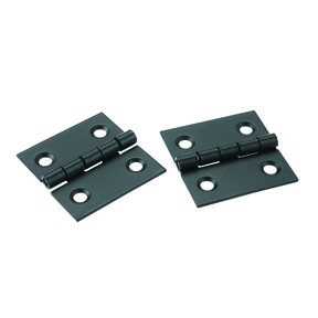 "Miniature Narrow Hinge 1"" Long x 1"" Open Oil Rubbed Bronze with Screws, 2-pair"