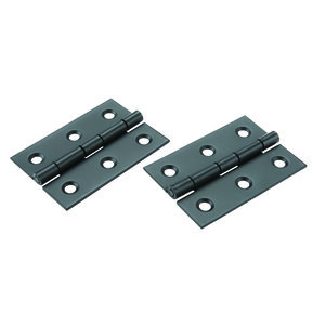 "Narrow Hinge 2"" Long x 1-3/8"" Open Oil Rubbed Bronze with Screws, pair"