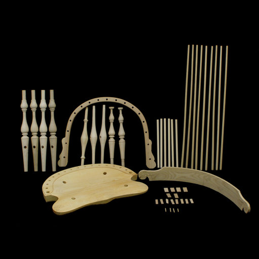 View a Larger Image of New England Comb Back Arm Chair Kit