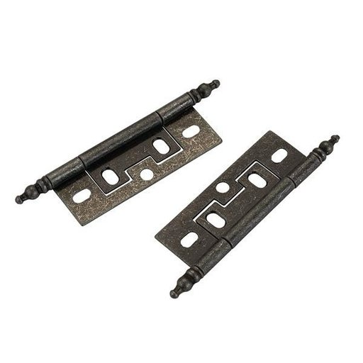 "View a Larger Image of Non-mortise Cabinet Hinge Silver 1"" x 2-1/2"", Pair"