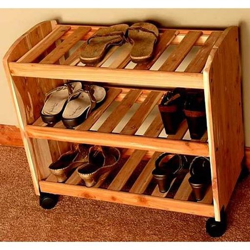 "View a Larger Image of 24"" Deluxe Shoe Rack"