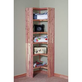 "24"" Deluxe Ventilated Corner Cubby"