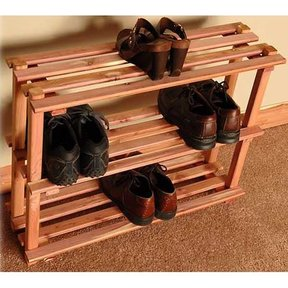 "30"" Three Tier Shoe Rack"