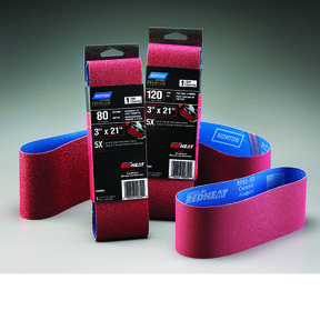 "4"" x 24"" Redheat Ceramic Sanding Belt, 120 Grit"