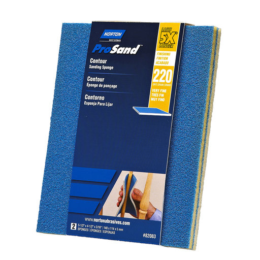 View a Larger Image of 5X Contour Sanding Sponge, 220 Grit, 2 Pack