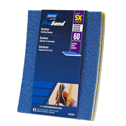 View a Larger Image of 5X Contour Sanding Sponge, 60 Grit, 2 Pack