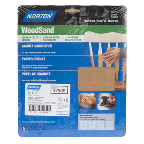 "9"" x 11"" All Purpose Sandpaper, Assorted Grits"