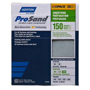 "9"" x 11"" Sanding Sheets, 150 Grit, 20 pack"