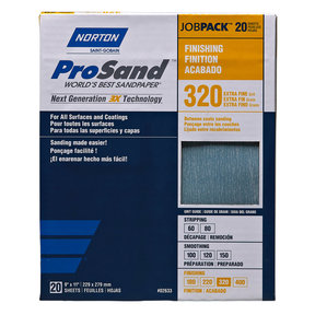 "9"" x 11"" Sanding Sheets, 320 Grit, 20 pack"