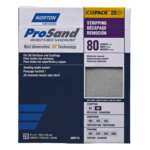 """View a Larger Image of 9"""" x 11"""" ProSand Sanding Sheets 80G 20 pk"""