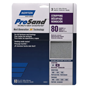 "9"" x 11"" ProSand Sanding Sheets 80G 3 pc"