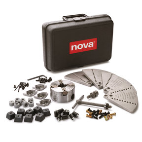 "Nova G3 Direct Thread 1"" x 8 TPI Chuck Bundle w/Mini Cole Jaws & Buffer Accessory Kit"