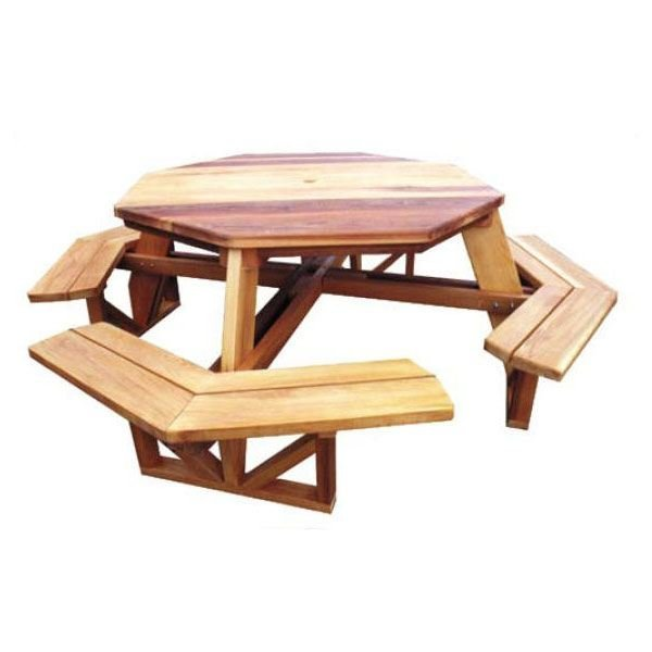 View a Larger Image of Octagon Picnic Table - Downloadable Plan