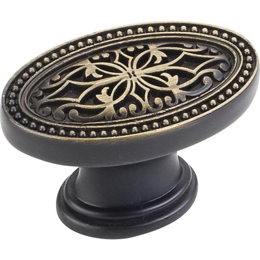 "View a Larger Image of Odessa Knob, 1-3/4"" O.L.,,, Antique Brushed Satin Brass"