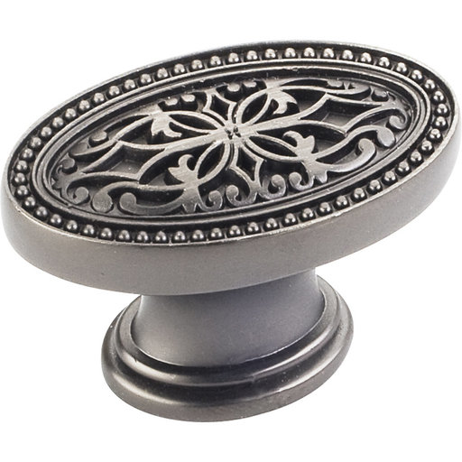 "View a Larger Image of Odessa Knob, 1-3/4"" O.L.,,, Brushed Pewter"