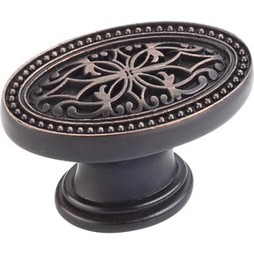 "Odessa Knob, 1-3/4"" O.L.,,, Brushed Oil Rubbed Bronze"