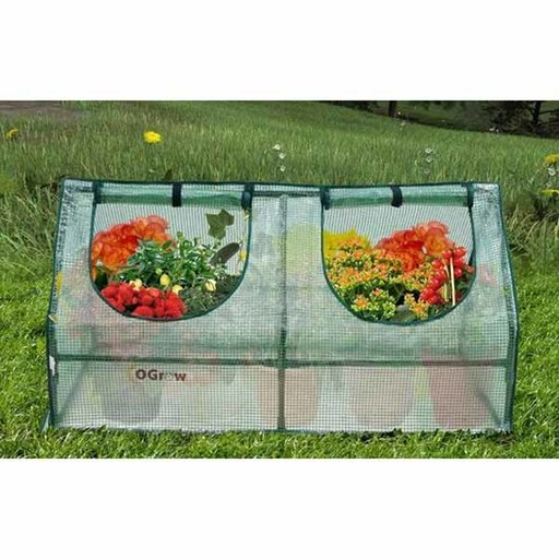 View a Larger Image of Compact Outdoor Seed Starter Greenhouse Cloche