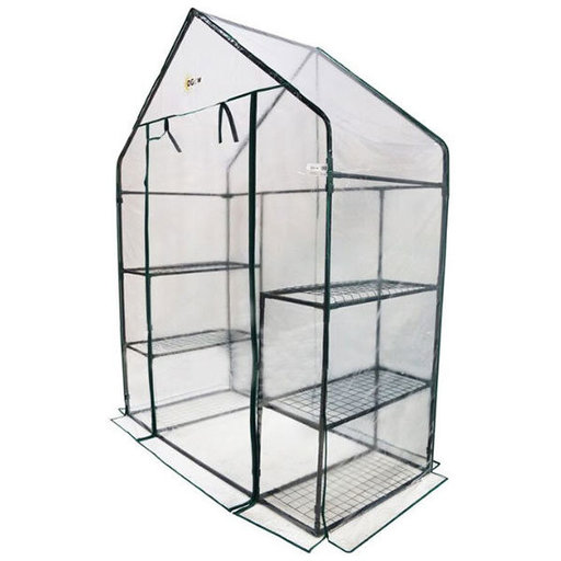 View a Larger Image of Deluxe WALK-IN - 3 Tier, 6 Shelf Portable Greenhouse